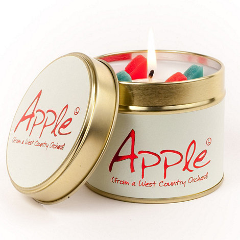 Lily Flame - White tinned apple scented candle