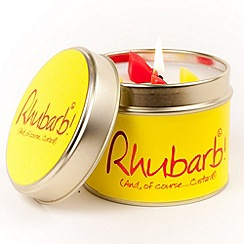 Lily Flame - Yellow tinned rhubarb scented candle