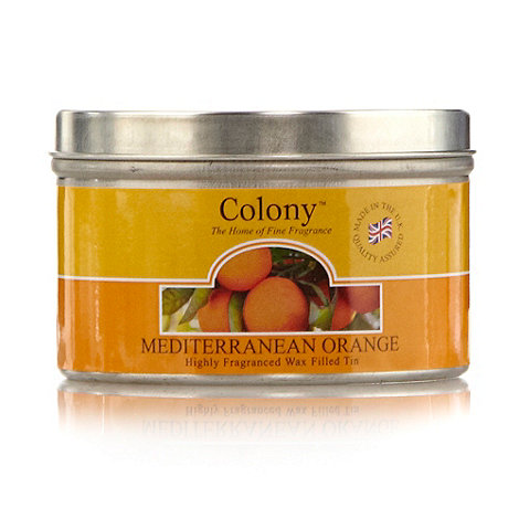 Colony - Mediterranean orange fragranced candle tin