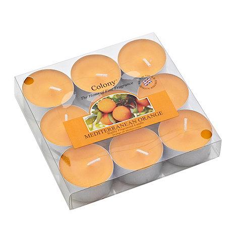 Colony - Pack of nine Mediterranean orange tealight candles