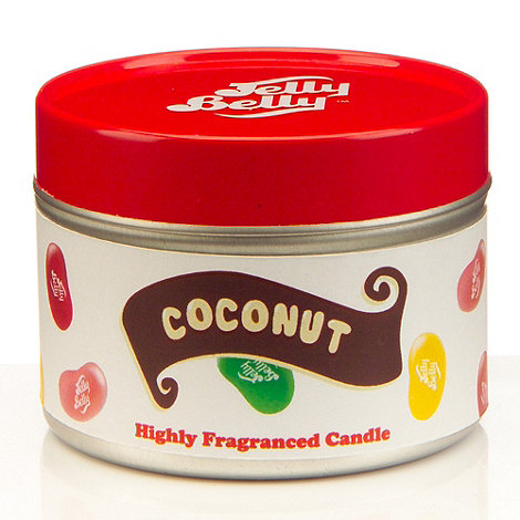 Jelly Belly - Coconut scented candle tin