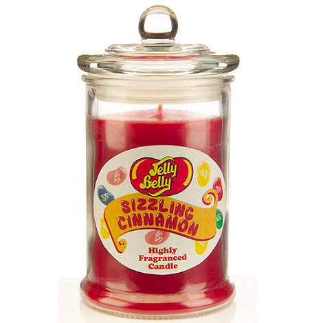 Jelly Belly - Sizzling Cinnamon scented candle jar