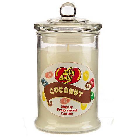 Jelly Belly - Coconut scented candle jar