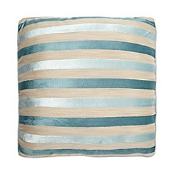 Debenhams - Duck Egg Blue Burnout Stripe Cushion