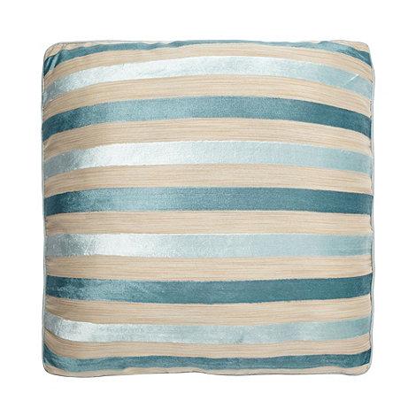 Debenhams - Duck Egg Blue Burnout Stripe Cushion
