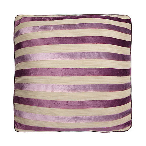 Debenhams - Mauve Burnout Stripe Cushion