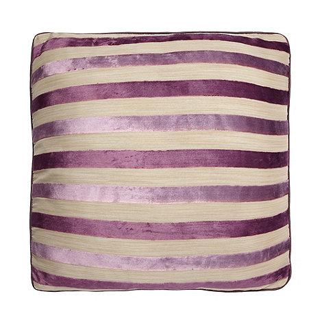 Debenhams - Mauve Burnout Stripe Cushion