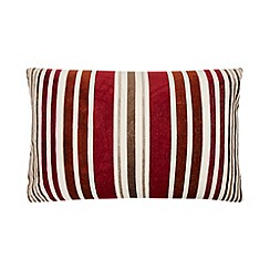 Home Collection - Red large cut pile striped cushion