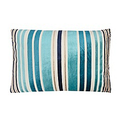 Home Collection - Blue large cut pile striped cushion