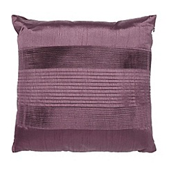 Home Collection - Purple pintuck textured satin cushion