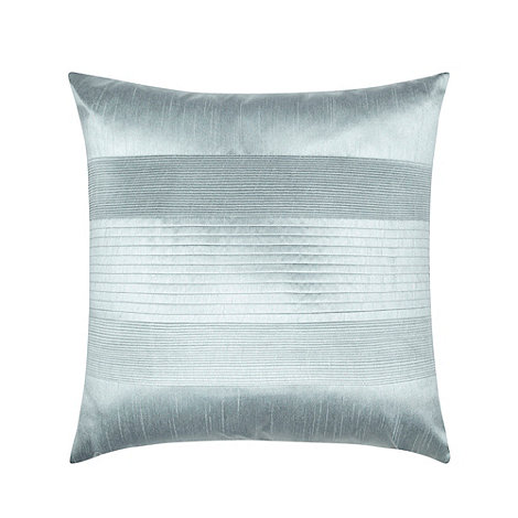 Home Collection - Pale blue pintuck textured satin cushion