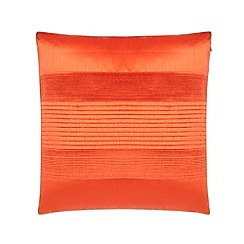 Home Collection - Dark orange pintuck textured satin cushion