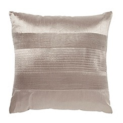 Home Collection - Taupe pintuck textured satin cushion