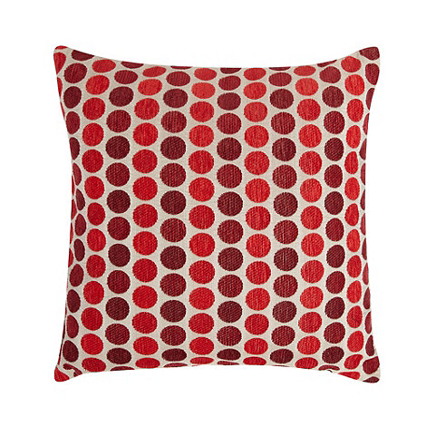 Debenhams - Red mini spotted cushion