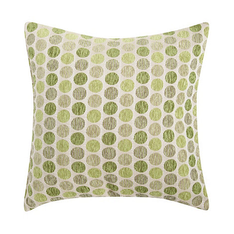 Debenhams - Green mini spotted cushion