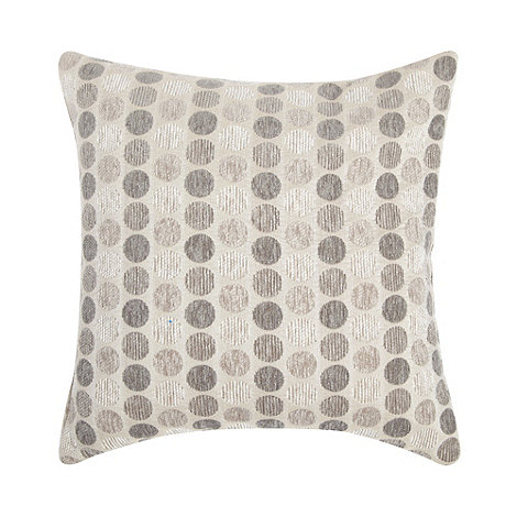 Debenhams - Natural mini spotted cushion