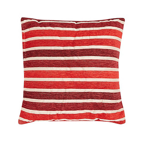 Debenhams - Red irregular striped cushion