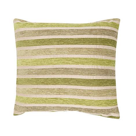 Debenhams - Green irregular striped cushion