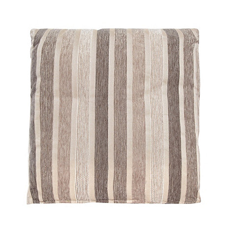 Debenhams - Natural irregular striped cushion