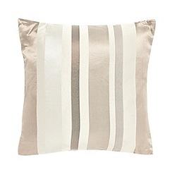 Debenhams - Natural satin striped cushion