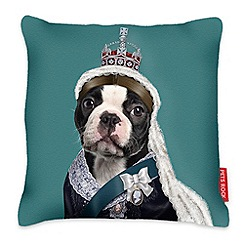 We Love Cushions - Turquoise Queen Victoria cushion