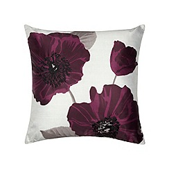 Home Collection - Purple poppy print cushion