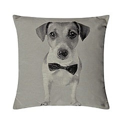 Home Collection - Natural dog print cushion
