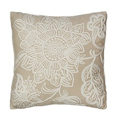 Home Collection - Cream floral embroidered cushion