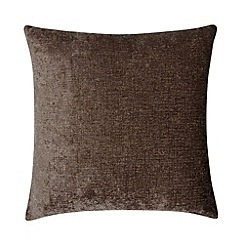 Home Collection - Brown luxury chenille cushion