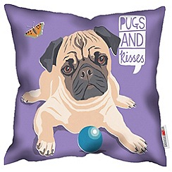 We Love Cushions - Pugs & kisses cushion