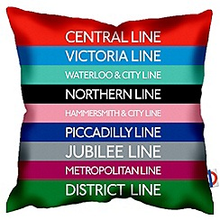 We Love Cushions - Tube map cushion