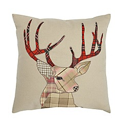 Home Collection - Natural winter stag cushion