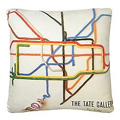 We Love Cushions - Cream 'Tate by tube' cushion