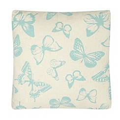 Debenhams - Teal butterfly print cushion