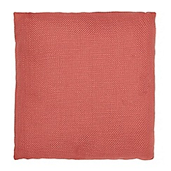 Debenhams - Coral textured pillow
