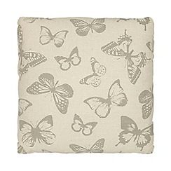 Debenhams - Beige butterfly print cushion