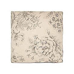 Debenhams - Cream floral cushion