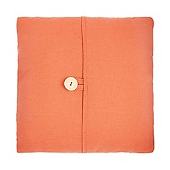 Debenhams - 'Emily' orange plain button detail cushion