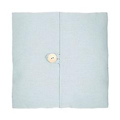 Debenhams - 'Emily' turquoise plain button detail cushion