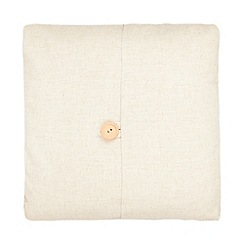 Debenhams - 'Emily' cream plain button detail cushion