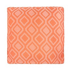 Debenhams - Orange geometric print cushion