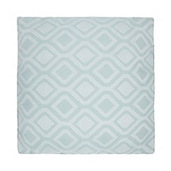 Debenhams - Turquoise geometric print cushion