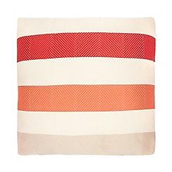 Debenhams - Orange striped cushion