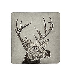 Home Collection - Grey stag print cushion
