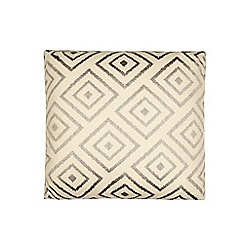 Home Collection - Grey geometric embroidered cushion