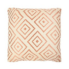 Home Collection - Orange textured tile pattern cushion