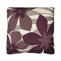Home Collection - Purple floral print cushion