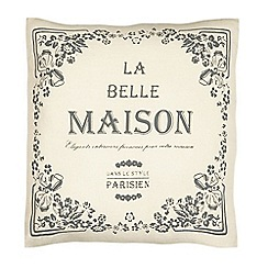 Home Collection - Beige 'La Belle Maison' printed cushion