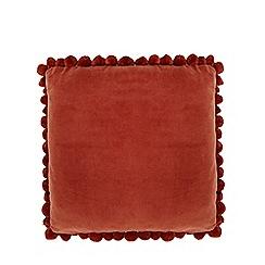 Home Collection - Orange pom pom cushion