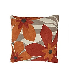 Home Collection - Orange floral print cushion